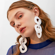 Load image into Gallery viewer, Big White Earrings