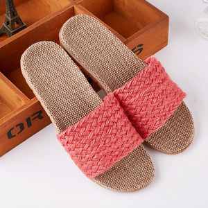 Chic Coral Sandal made of Hemp