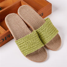 Load image into Gallery viewer, Green Moss Hemp Slippers