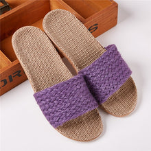 Load image into Gallery viewer, Purple Hemp Shoes Indoor Vacation Visit