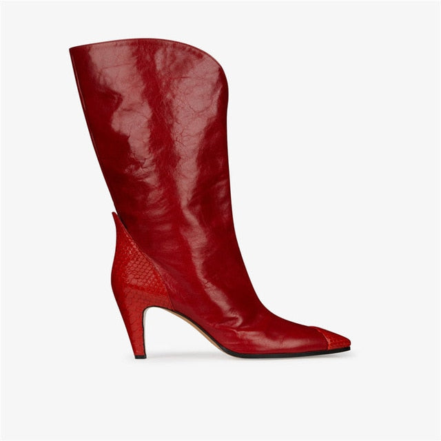 Hailey Baldwin Red Boots