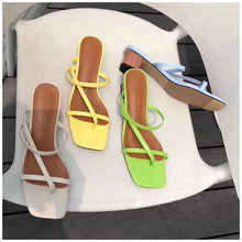 Load image into Gallery viewer, Pastel Coloured Sexy Low Heel Sandal Spring Summer Resort 2020 Collection