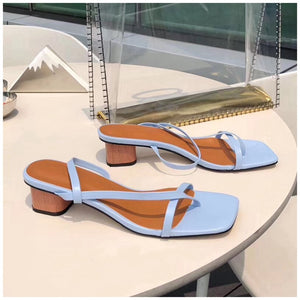 Pastel Coloured Sexy Low Heel Sandal Spring Summer Resort 2020 Collection