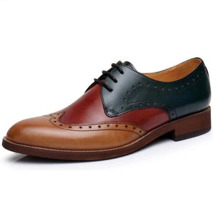Western Vibe Oxford Loafer Shoe Burgundy, Brown and Black