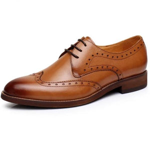 Chestnut Brown Oxford Loafers Professional Shoes
