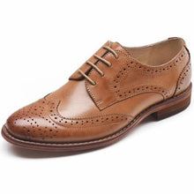 Load image into Gallery viewer, Brown Oxford Loafers Business Casual Shoes