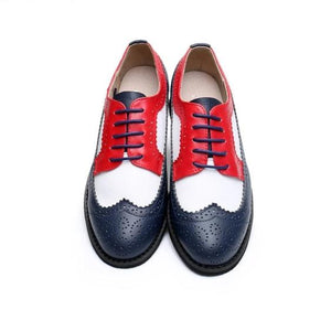 USA Shoes -- Dark Blue Toe, White, and Red Loafer Shoes