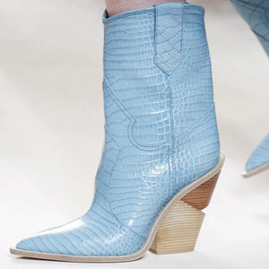 Baby Blue Point Toe Sexy Winter Shoes Boots Bootie Video Beyonce