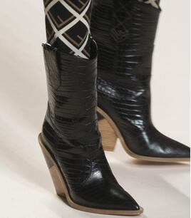 Black Glossy Night Party Shoes Boots Booties