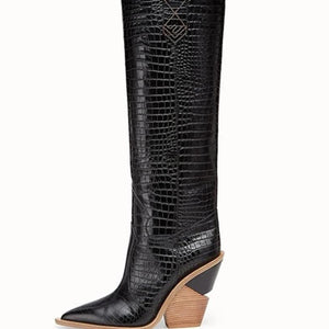 Bad Girl Runway Boots -- Pointed Toe ,High Heel Ladies Chelsea Boots