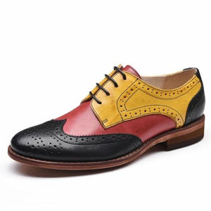 Funky Loafers -- Black, Red, and Mustard Shoes