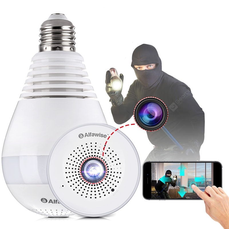 Panoramic Infrared Night Vision Camera Bulb - 4LAUNT.COM