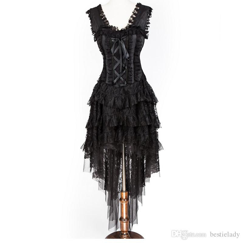 Dark Queen Ghost Bride Evening Dress