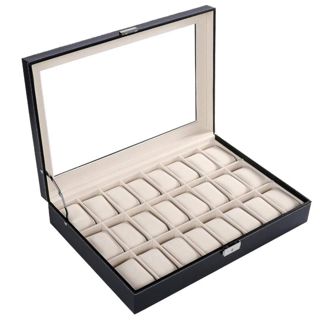 24 Grid Watch Display Storage Case - 4LAUNT.COM