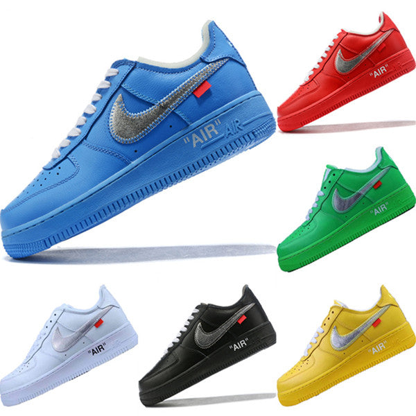 Genuine Leather Air Force 1 Splicing Low Top Sneaker