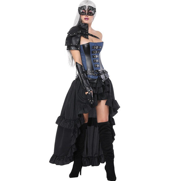 Complete 5pcs Gothic Steampunk Outfit