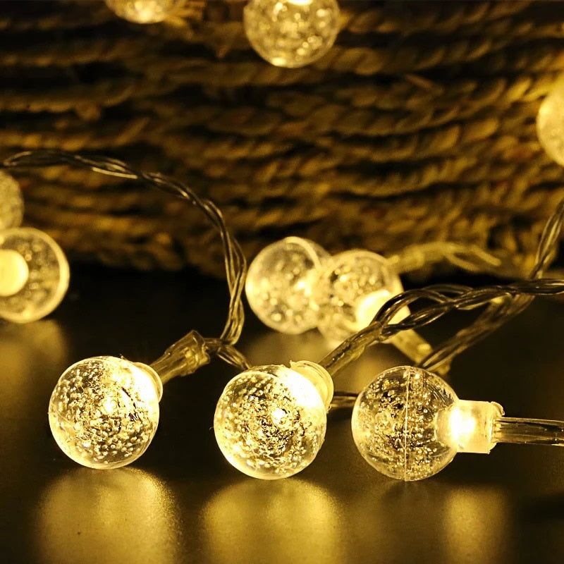 LED Crystal Warm White Bubble Ball String Lamp - 4LAUNT.COM