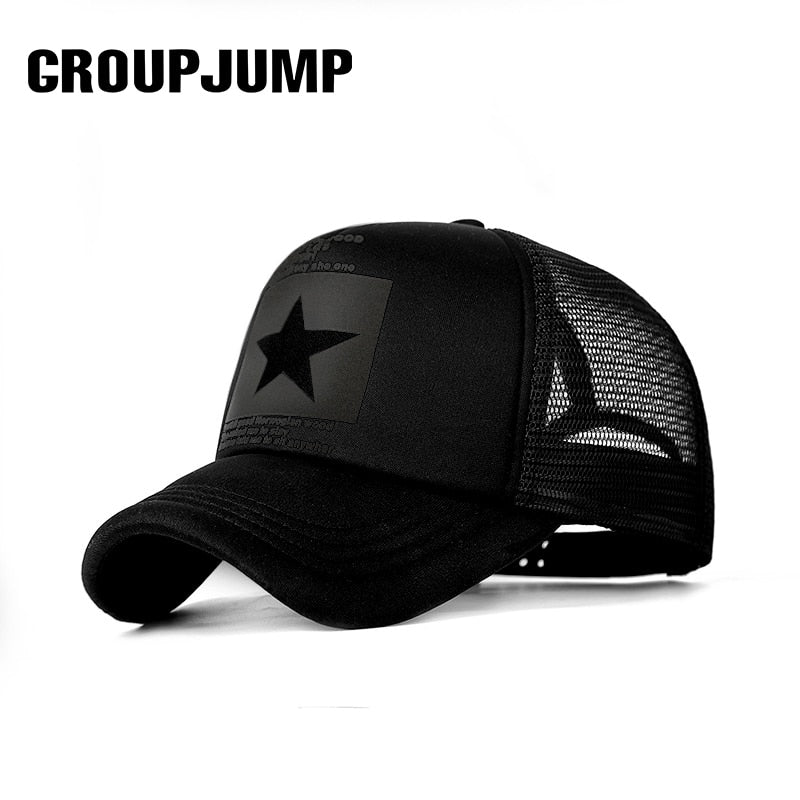 Unisex Five-Pointed Star Mesh Cap - 4LAUNT.COM