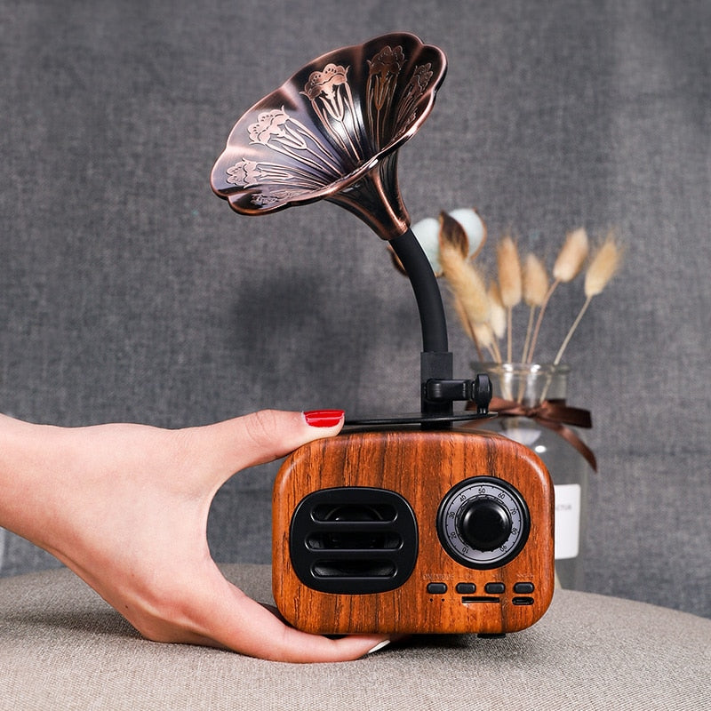 Portable Retro Wooden Portable Mini Bluetooth Sub-Woofer - 4LAUNT.COM