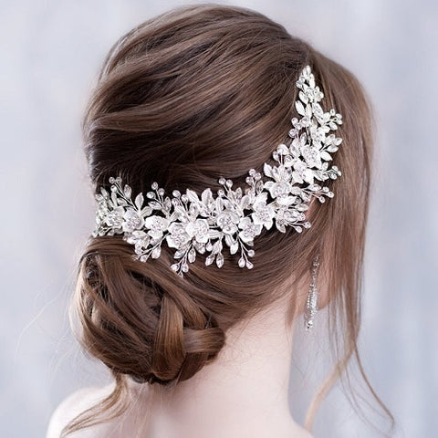 Flower Headband Wedding Hair Accessories - 4LAUNT.COM