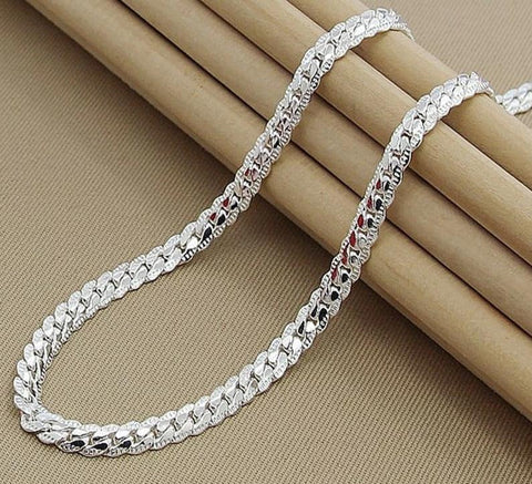 Women's 6mm Full Sideways 925 Silver Necklace - 4LAUNT.COM