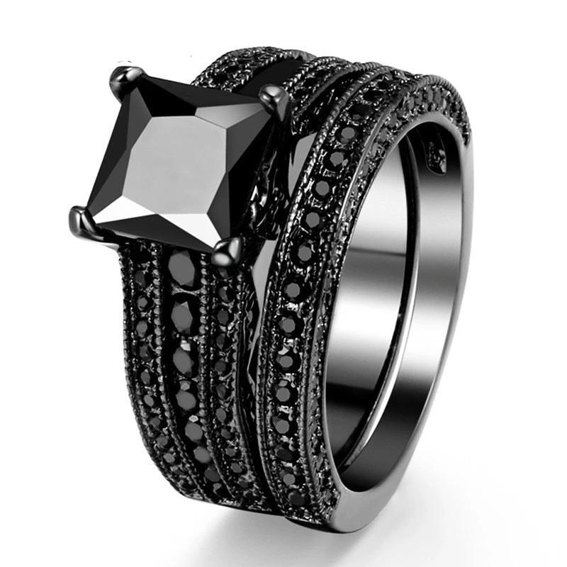 Women's Vintage Black Titanium Ring - 4LAUNT.COM