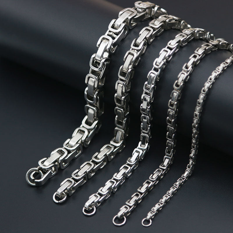 Men Stainless Steel Chain and Bracelets - 4LAUNT.COM
