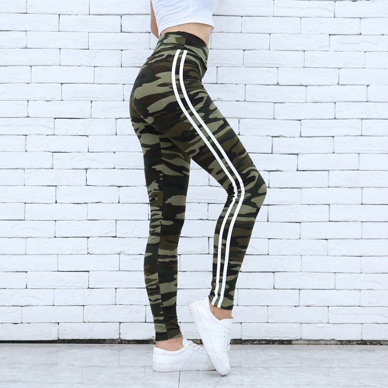 Women's High Quality Combat Camo Legging - 4LAUNT.COM