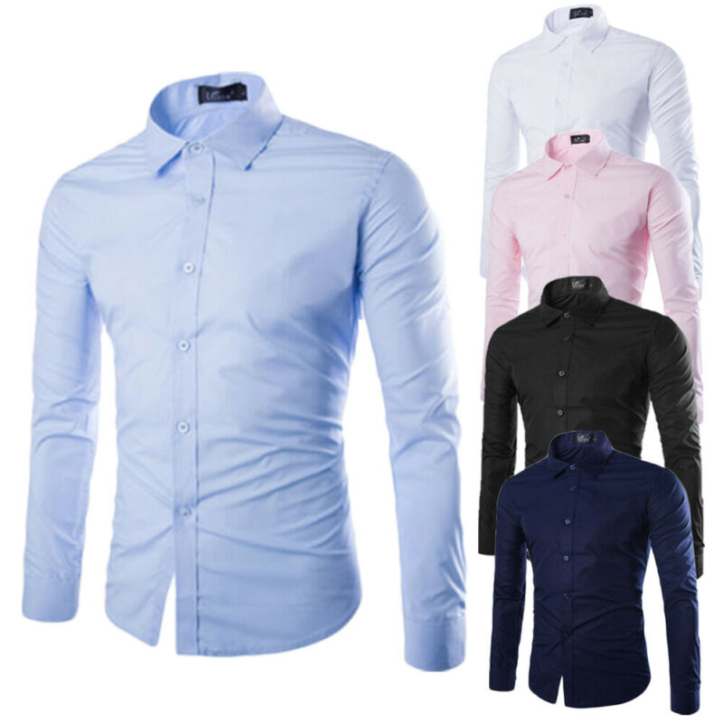 Men's Luxury Cotton Casual Button Down Shirts - 4LAUNT.COM