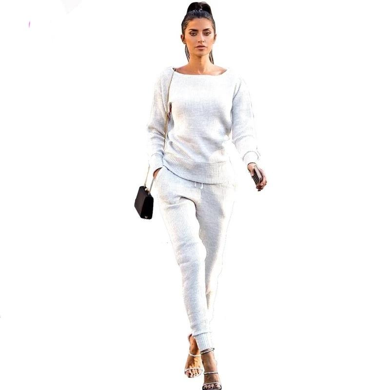 Luxury Elegant Knitted Designer 2Pc Tracksuit - 4LAUNT.COM