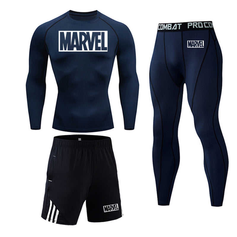 Men's Marvel Compression Workout & Running Tracksuit - 4LAUNT.COM