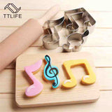 Musical Note Symbol Cookie Cutters - 4LAUNT.COM