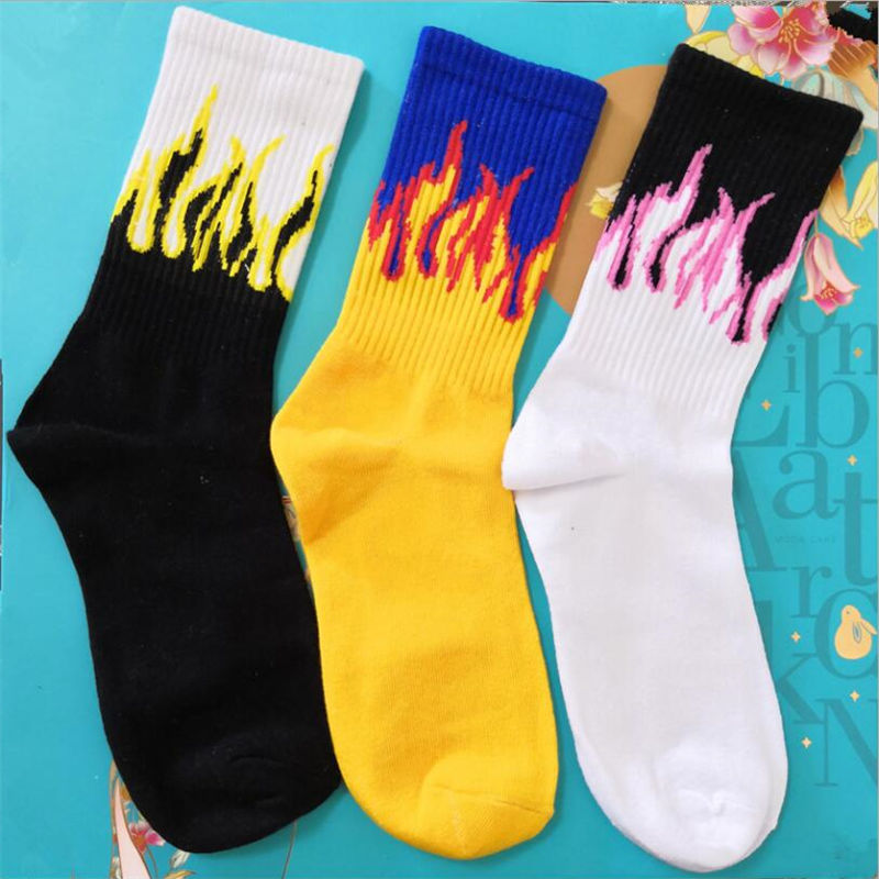 Hip Hop On Fire Crew Socks - 4LAUNT.COM