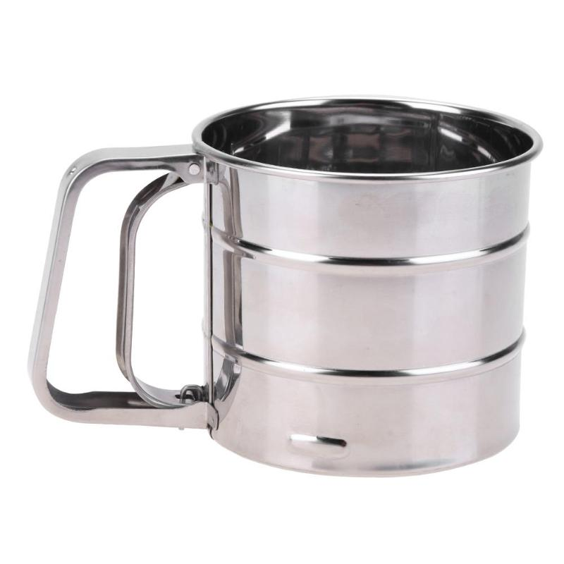 Handheld Flour Shaker Stainless Steel Kitchen Mesh Cup - 4LAUNT.COM