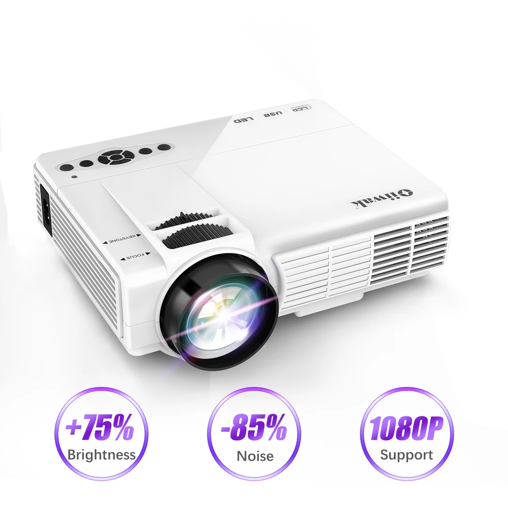 Q5 LED Mini 720P Full-HD 800 x 600 Projector - 4LAUNT.COM