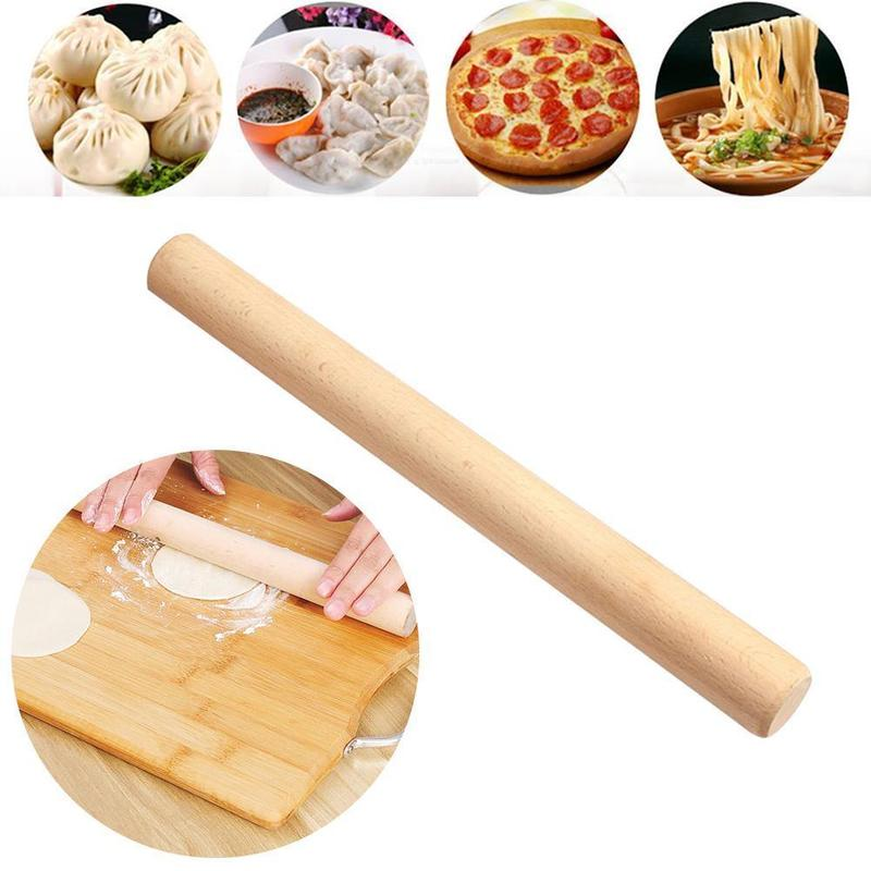 Solid Wooden Fondant Dough Roller - 4LAUNT.COM