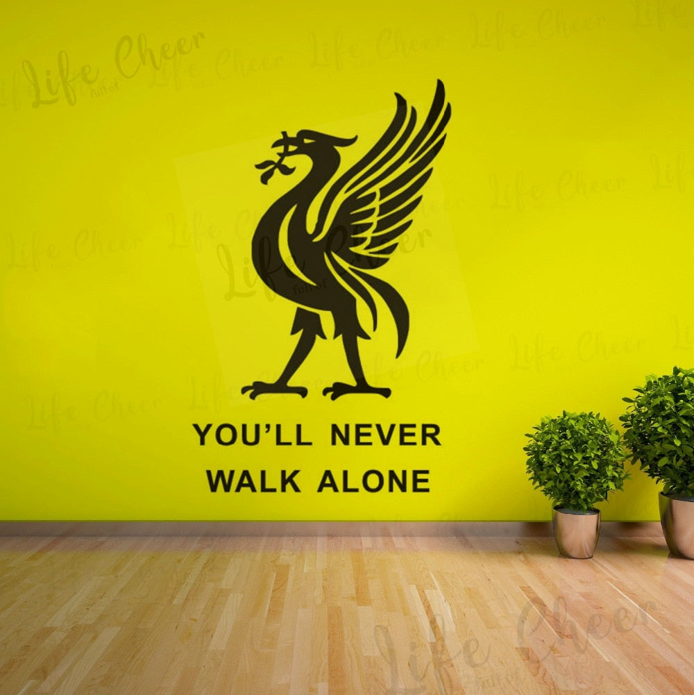You'll Never Walk Alone Liverpool Football Club Wall Sticker - 4LAUNT.COM