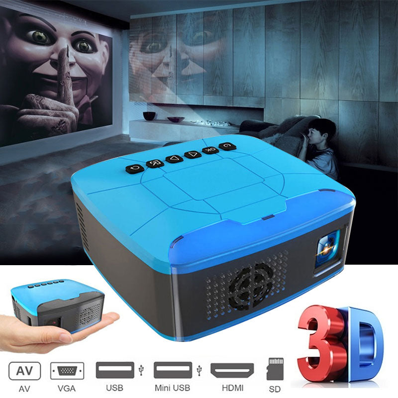 Mini Palm USB/HDMI Full HD Home Cinema Projector - 4LAUNT.COM