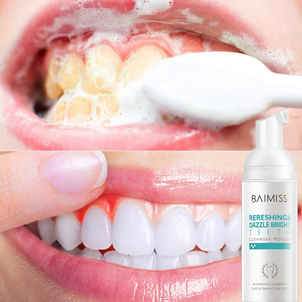 Fresh Shining Tooth-Cleaning Mousse Toothpaste - 4LAUNT.COM