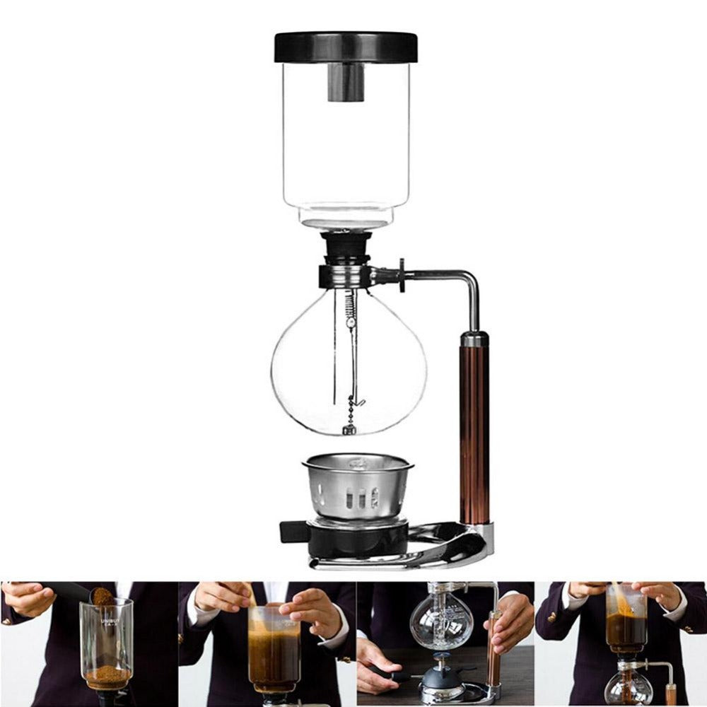 Japanese Style Siphon Pot Vacuum Coffee & Tea Maker - 4LAUNT.COM