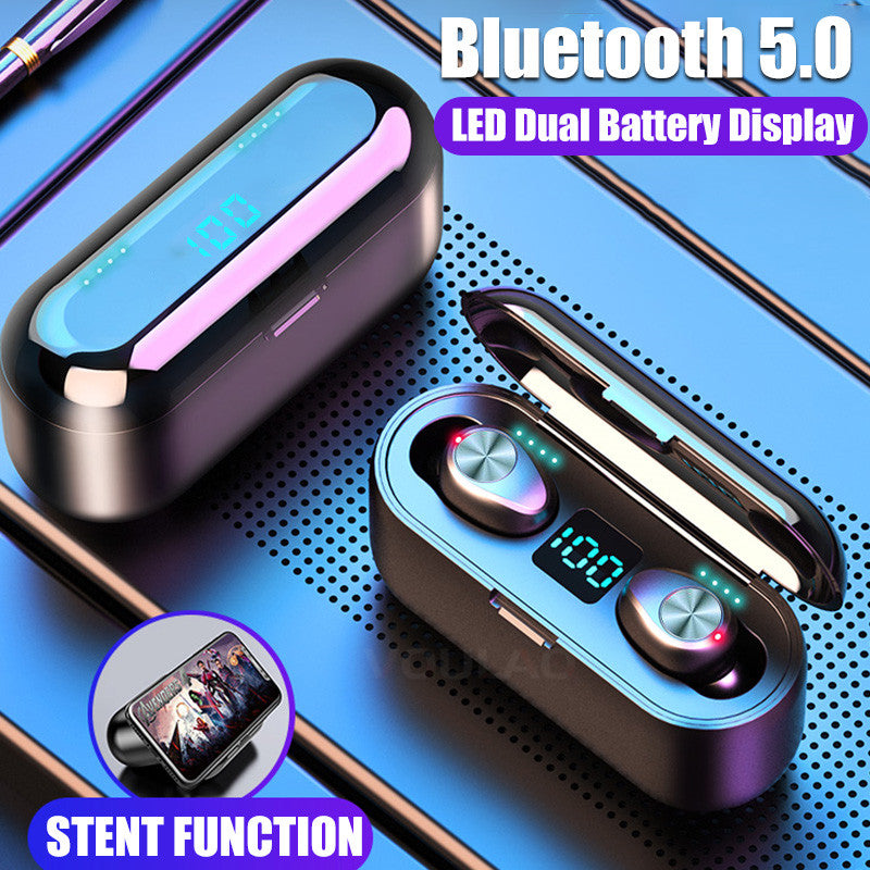 Wireless Bluetooth V5.0 F9 TWS With LED Display
