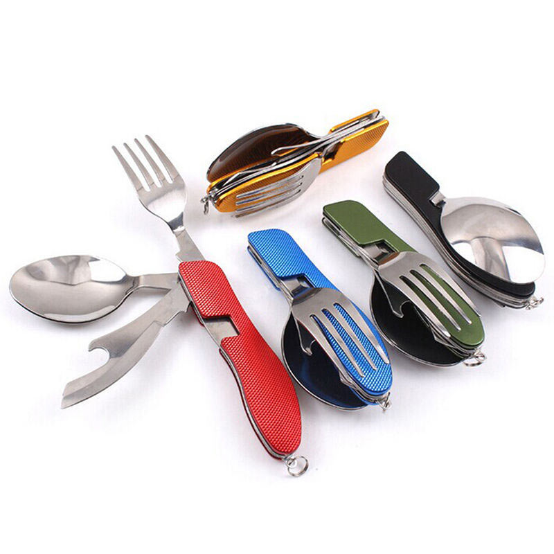 4 In 1 Folding Pocket Camping & Picnic Tableware - 4LAUNT.COM