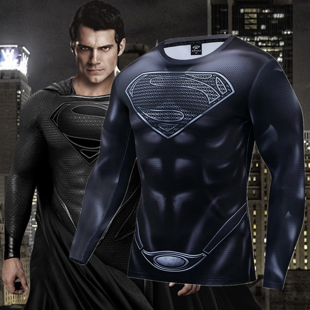 Superman Compression Fitness Gym T-shirt - 4LAUNT.COM