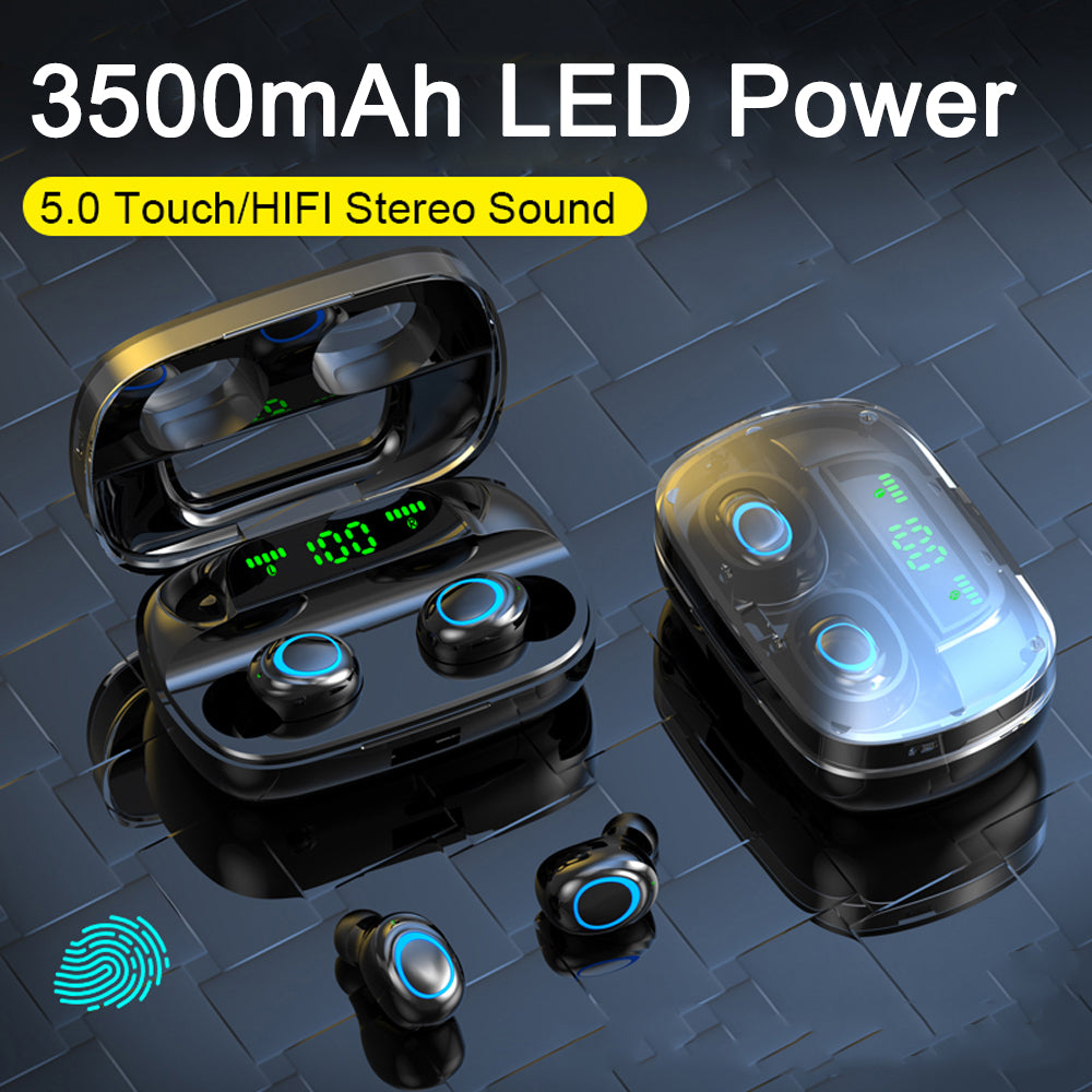 8D HiFi Stereo Waterproof Touch Control Bluetooth 5.0 Earphones - 4LAUNT.COM