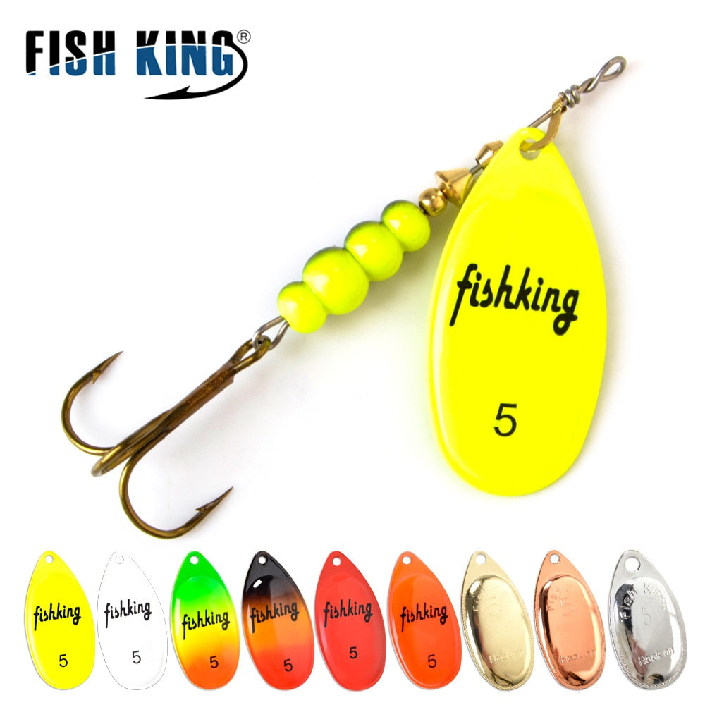 Spinner Rattling Bait Pike Metal With Treble Hooks