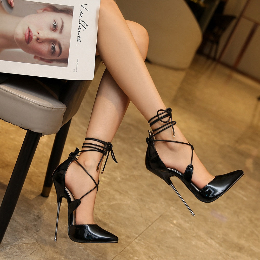 16cm Cross-tied Gladiator Classic High Heels