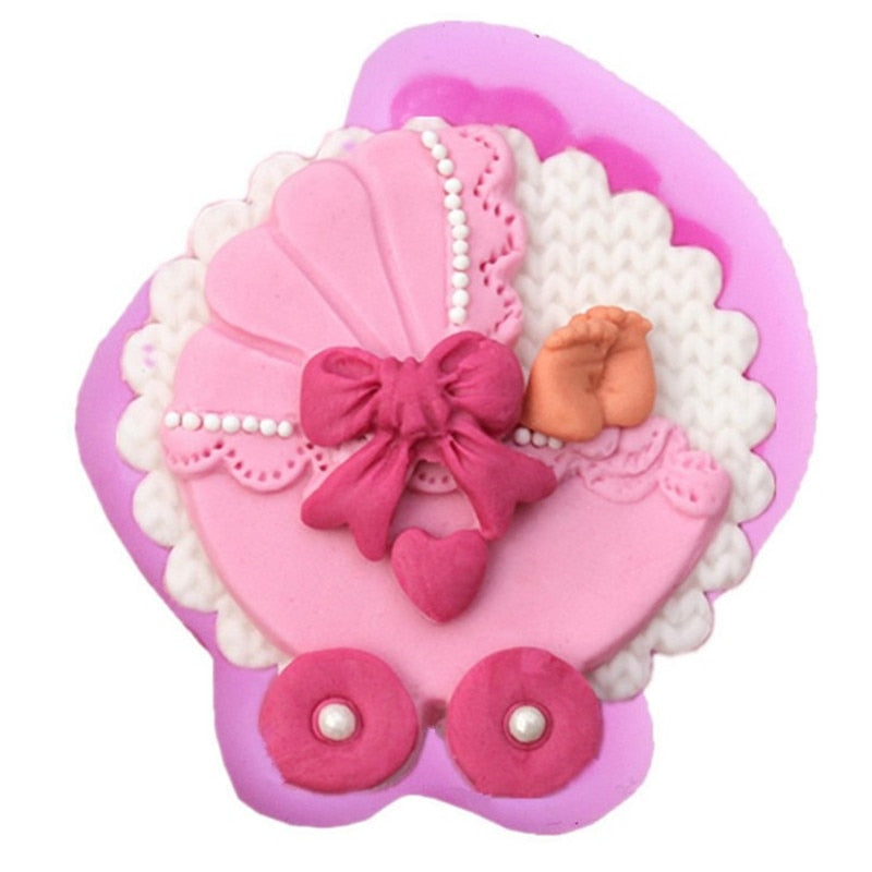 Sugarcraft Baby Carriage Silicone Fondant Mold