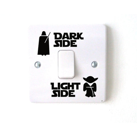 Wars Dark Light Side Star Classic Film Funny Vinyl Switch Stickers