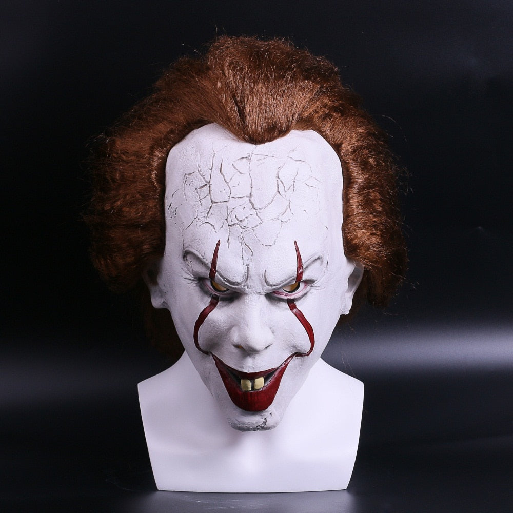 Stephen King's Pennywise Full Head Cover Latex Mask - 4LAUNT.COM