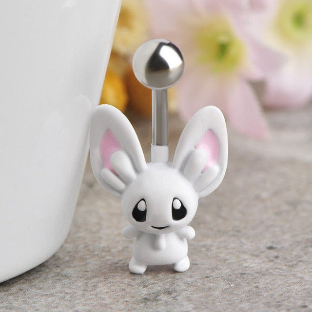 Rabbit Navel Belly Button Ring - 4LAUNT.COM